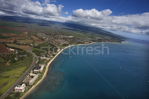 Aerial of Maui coast. Stock photo © iofoto