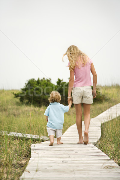Girl with little boy. Stock photo © iofoto