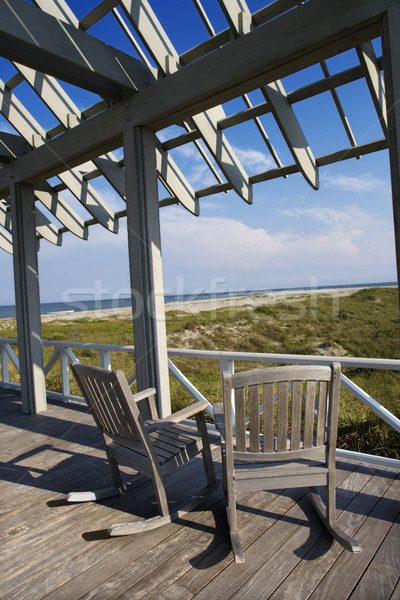 Beachfront deck. Stock photo © iofoto