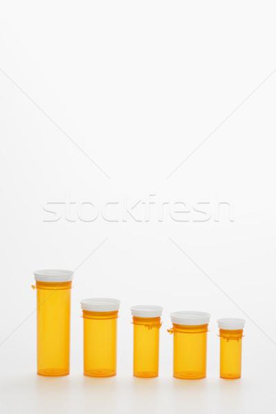 Empty Yellow Medicine Bottles. Isoated Stock photo © iofoto