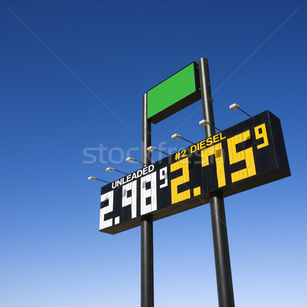 Sign with fuel prices. Stock photo © iofoto