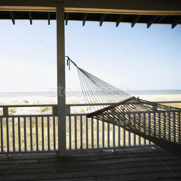 гамак крыльцо мнение пляж лысые Сток-фото © iofoto
