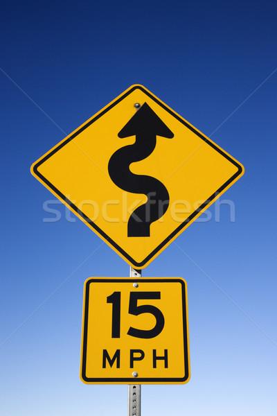 Carretera segundo signo 15 Foto stock © iofoto
