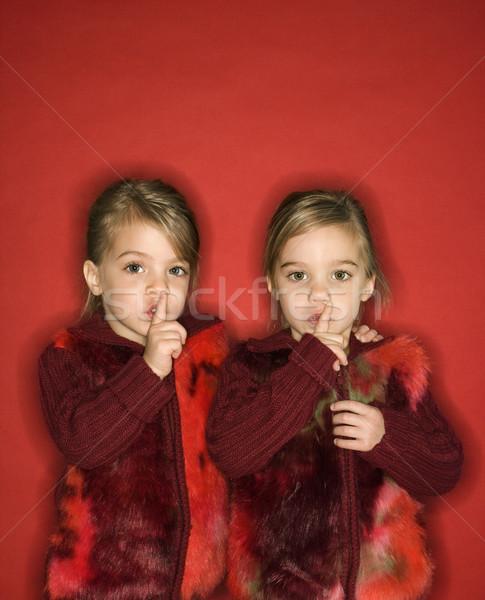 Stok fotoğraf: Kız · ikiz · kadın · çocuklar · kafkas