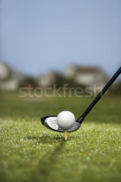 Stok fotoğraf: Golf · kulüp · top · görüntü · golf · topu · arkasında