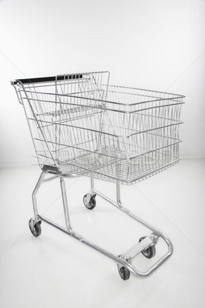 Bevásárlókocsi csendélet üzlet szín gazdaság senki Stock fotó © iofoto