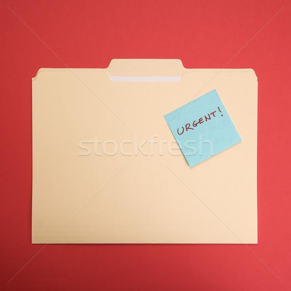 緊急 付箋 フォルダ 読む 赤 ストックフォト © iofoto