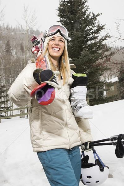 Woman with ski gear. Stock photo © iofoto