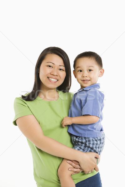 Mère fils asian hanche souriant Photo stock © iofoto