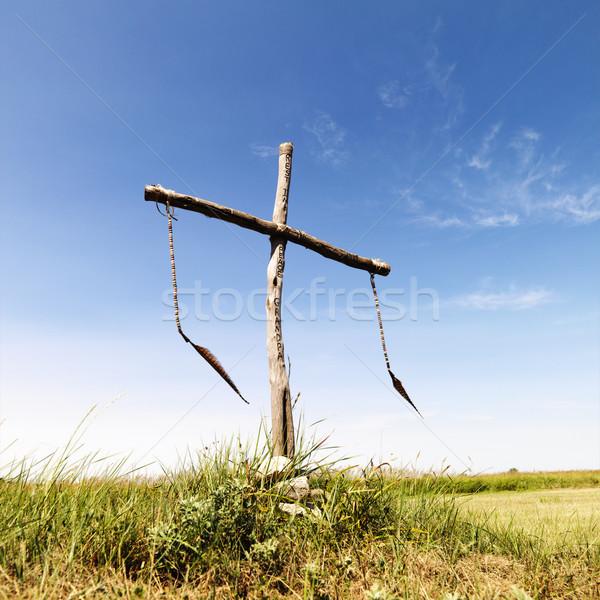 Begrafenis plaats veld ceremonieel afstandsbediening vrede Stockfoto © iofoto