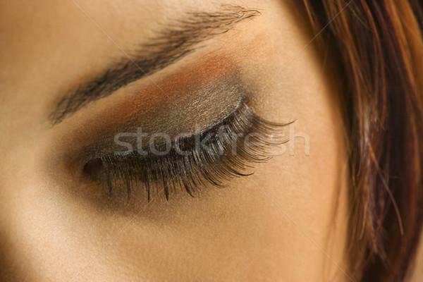 глаза молодые кавказский женщину Сток-фото © iofoto