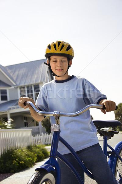Boy on bike. Stock photo © iofoto