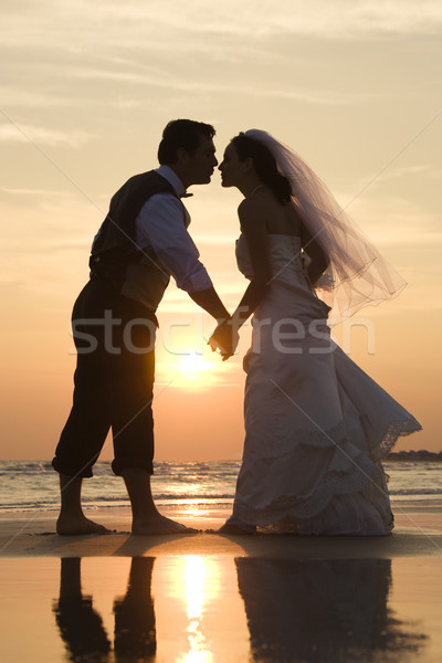 Bride and groom kissing. Stock photo © iofoto