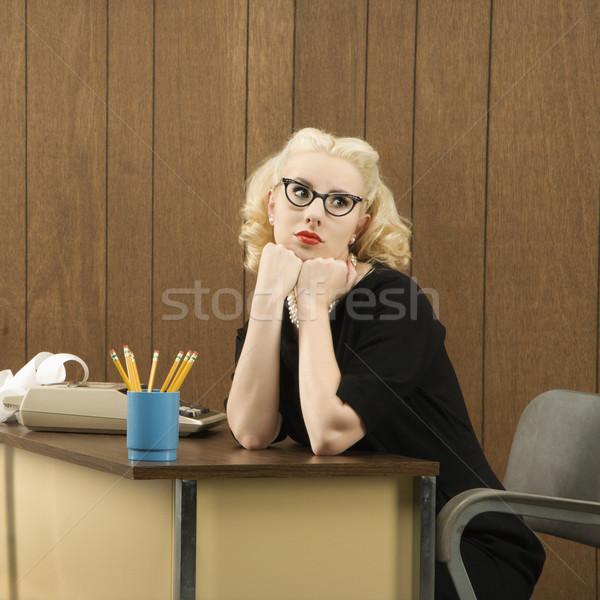 Woman at desk. Stock photo © iofoto