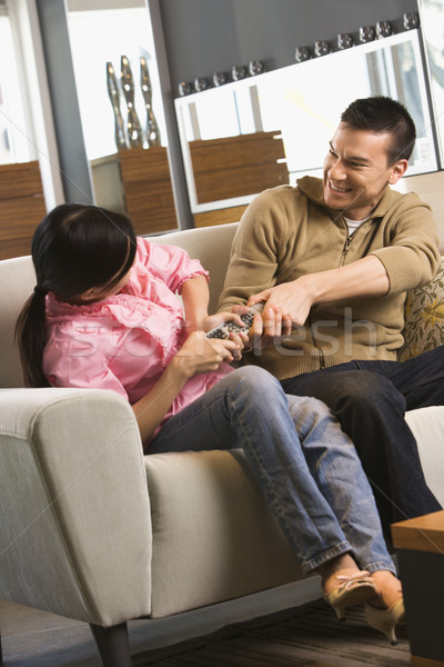 Couple distant asian femme homme Photo stock © iofoto