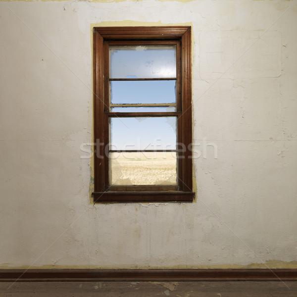 壁 ウィンドウ 空っぽ 捨てられた ルーム 未亡人 ストックフォト © iofoto