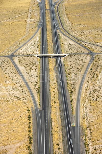 Eyaletler arası çöl karayolu araba seyahat Stok fotoğraf © iofoto