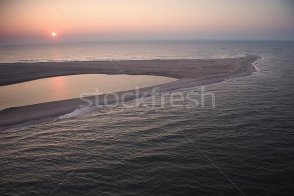 Coastal sandbar. Stock photo © iofoto