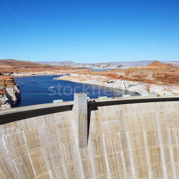 Kanion Arizona krajobraz górę Colorado rzeki Zdjęcia stock © iofoto