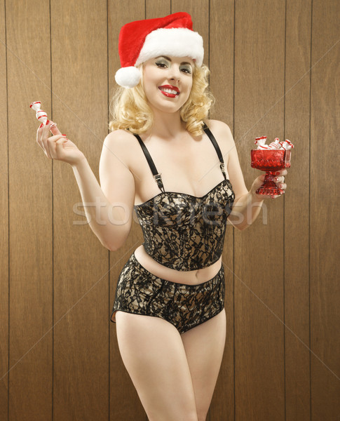 Woman in holiday attire.  Stock photo © iofoto