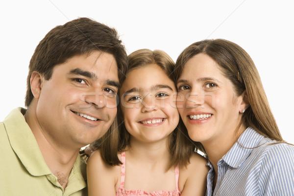 Gelukkig gezin ouders dochter glimlachend witte familie Stockfoto © iofoto