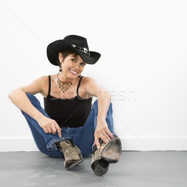 Mulher bonita retrato bastante caucasiano mulher sorrindo Foto stock © iofoto