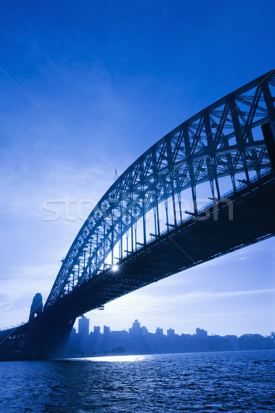 Sidney Avustralya liman köprü akşam karanlığı görmek Stok fotoğraf © iofoto