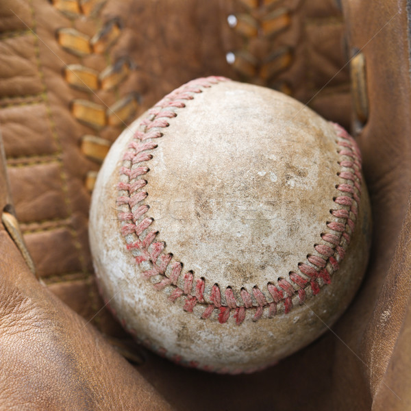 Baseball in glove. Stock photo © iofoto
