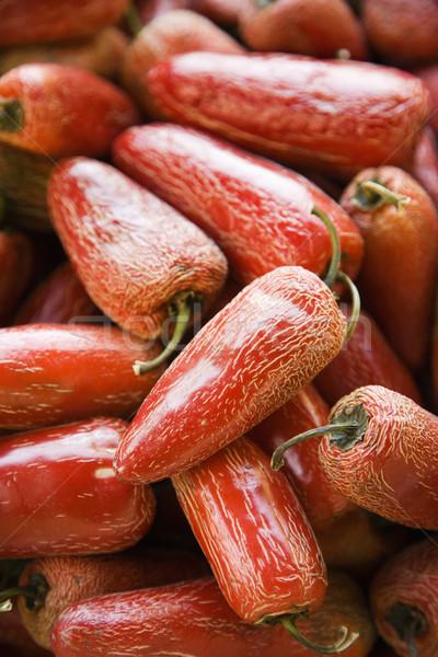 Rood serrano paprika produceren markt Stockfoto © iofoto
