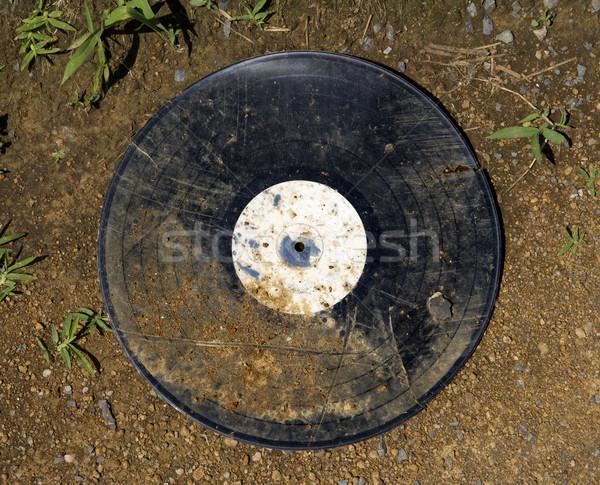 Eski kirli vinil albüm kayıt zemin Stok fotoğraf © iofoto