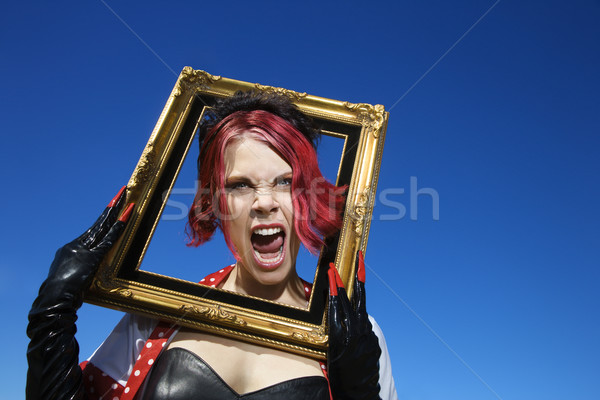 Woman screaming. Stock photo © iofoto