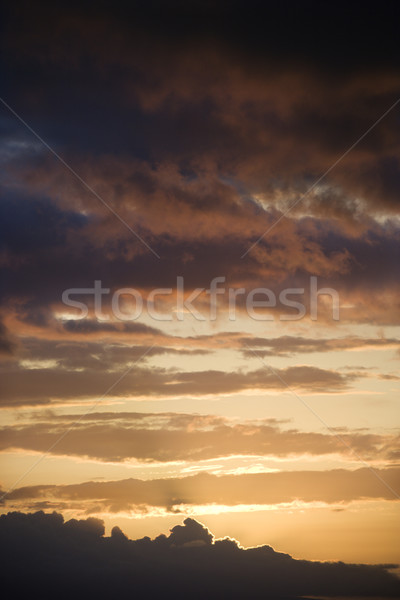 Or coucher du soleil Hawaii nuage USA Photo stock © iofoto