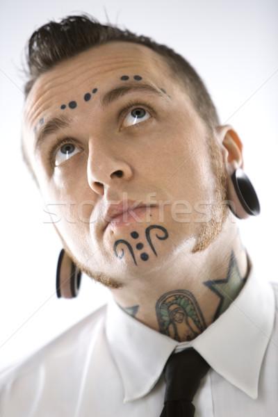 человека кавказский мужчин портрет цвета Сток-фото © iofoto