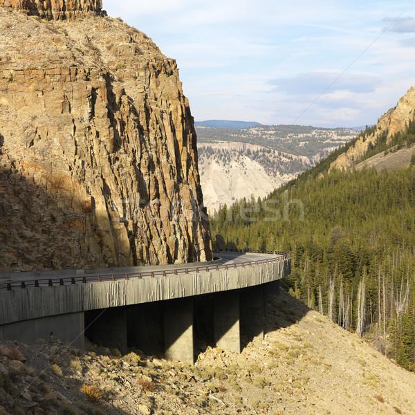 道路 ワイオミング州 山 急 山 旅行 ストックフォト © iofoto