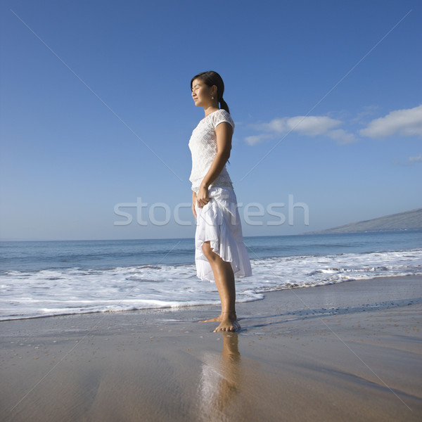 Woman on shoreline. Stock photo © iofoto