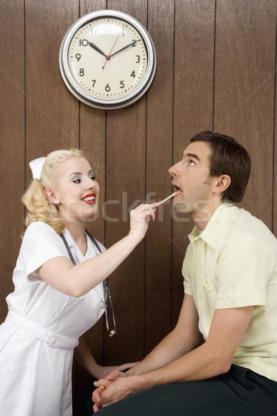 Infermiera paziente femminile bocca Foto d'archivio © iofoto