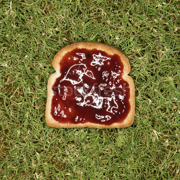 Slice of toast with jam. Stock photo © iofoto