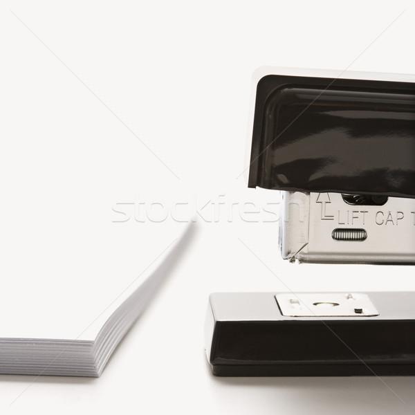 Cucitrice carta nero bianco Foto d'archivio © iofoto