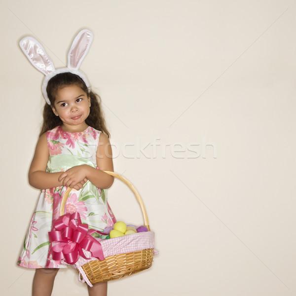 Stock photo: Girl celebrating Easter.