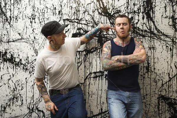 Tattooed men. Stock photo © iofoto