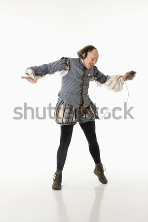 Shakespeare dancing to mp3s. Stock photo © iofoto