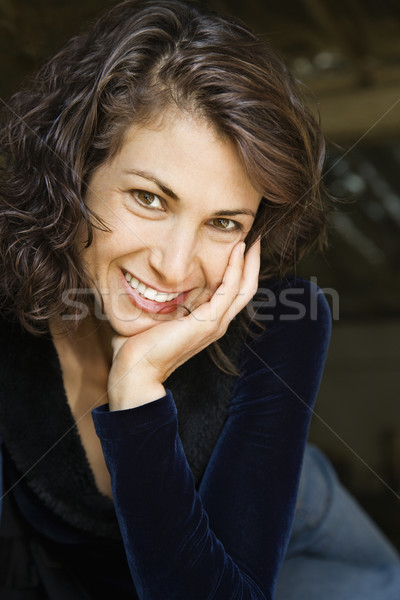 Smiling woman. Stock photo © iofoto