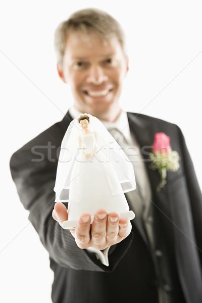 Bruidegom bruid beeldje kaukasisch uit Stockfoto © iofoto