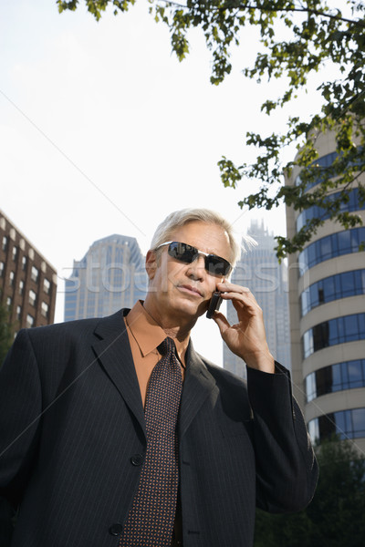 Businessman on phone. Stock photo © iofoto
