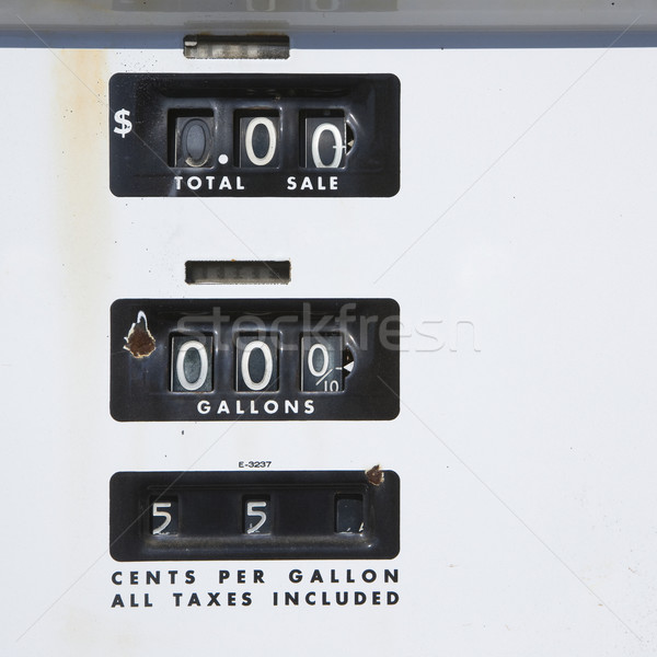 Old gas gauge. Stock photo © iofoto