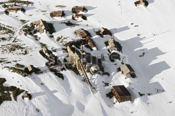Snow covered town. Stock photo © iofoto