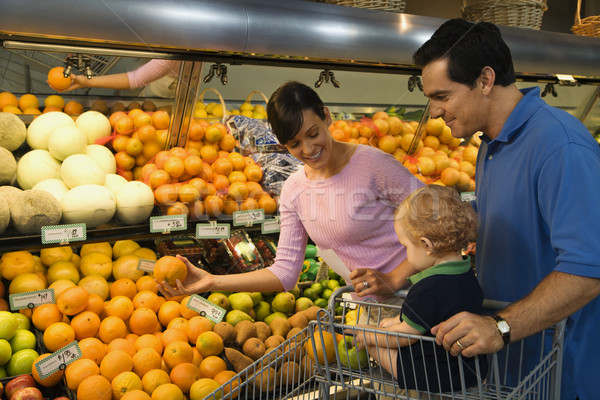Family grocery shopping. Stock photo © iofoto
