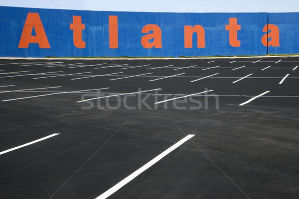 Pusty parking Atlanta malowany ściany Gruzja Zdjęcia stock © iofoto