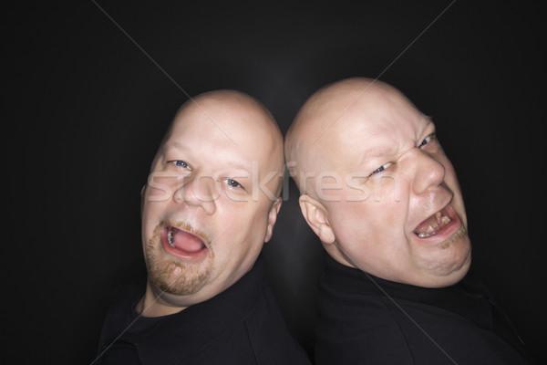Kopasz iker férfiak sír kaukázusi felnőtt Stock fotó © iofoto