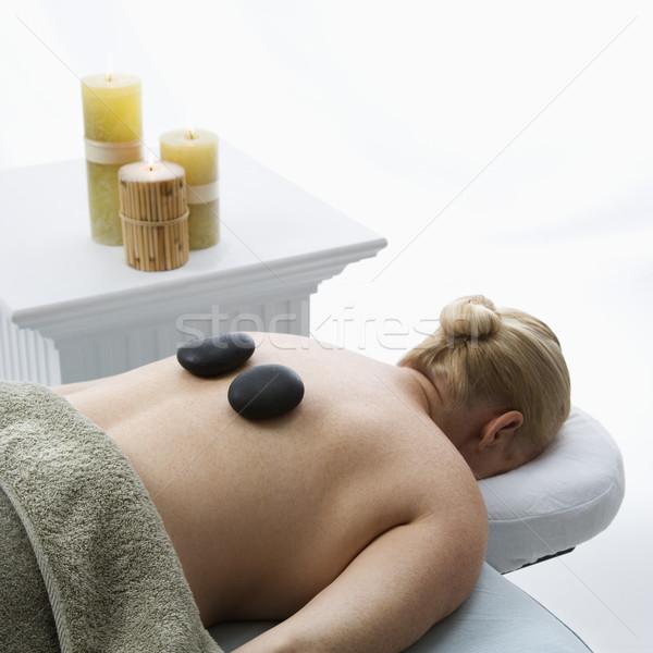 Caldo pietra massaggio donna Foto d'archivio © iofoto